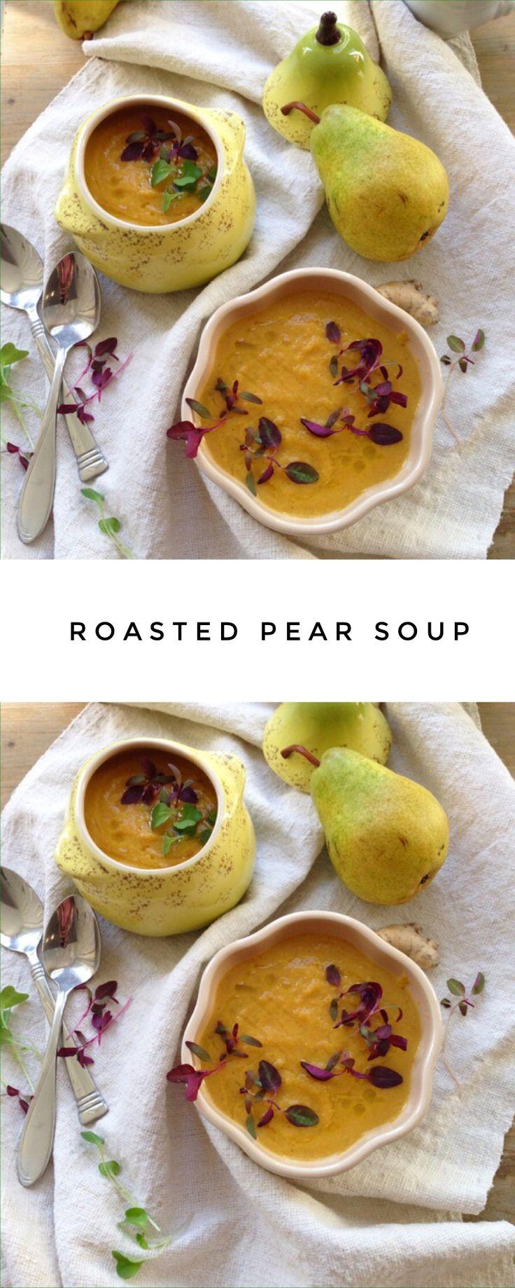 Roasted Pear Soup Recipe   CiaoFlorentina.com @CiaoFlorentina