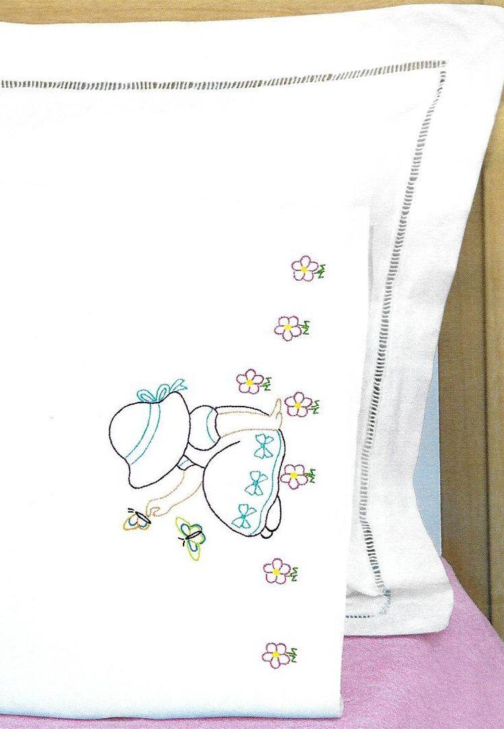 Jack Dempsey Sunbonnet Sue Children's Pillowcases Needle Art 1605-891