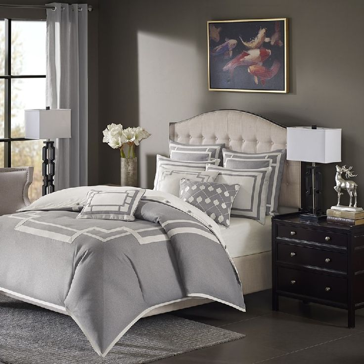savoy in grey comforter sets by madison park signature