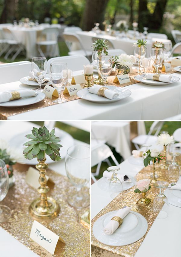 White And Gold Wedding Table Styling White gold wedding