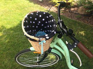 Mint bicycle basket liner DIY / Tutorial: wypełnienie do koszyka