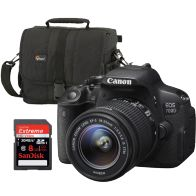 Canon EOS 700D DSLR with EF-S 18-55mm IS STM Lens, Sandisk 8GB Card and Bag