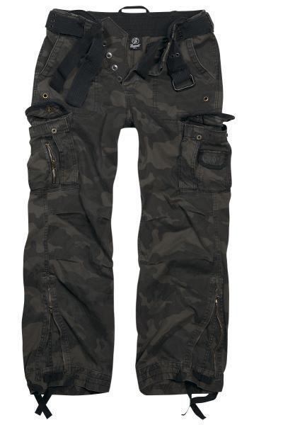 Questi pantaloni del brand #Brandit possono essere indossati morbidi, ma vestiranno bene anche alle persone più magre. Il look usato, dato dalle parti di tessuto logore (di cotone alta qualità) e dai colori sbiaditi è ricercato e non certo un caso.
