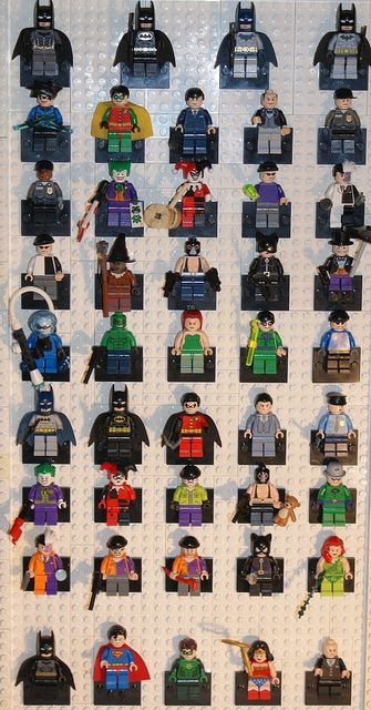 Every Single Lego DC figure ever released. by A Civilian, via Flickr