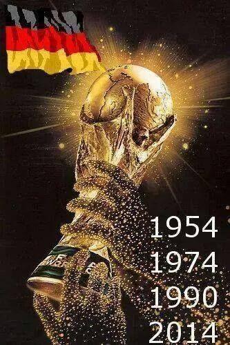 WM-Sieger 1954 , 1974 , 1990 u. 2014