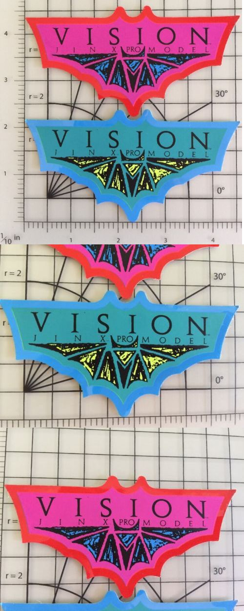 Stickers and Decals 47357: Two Vintage 1980S Jinx Bat Vision Skateboard Stickers Decals -> BUY IT NOW ONLY: $33.26 on eBay!