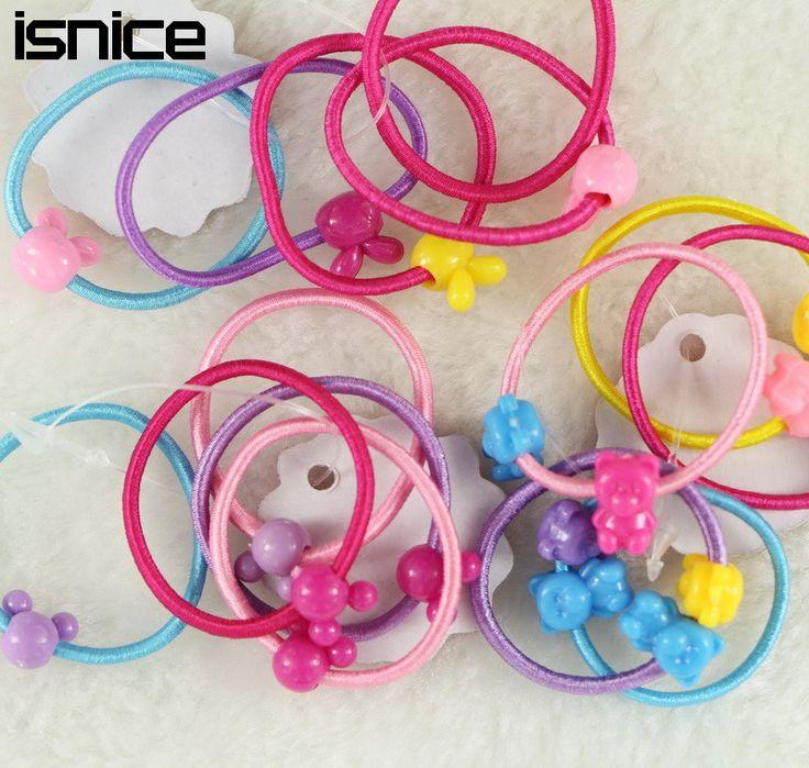 TS 50 pz mini cappello superiore della fascia bambini Coreani del fumetto caramelle di colore elastico dei capelli anello di accessori per capelli headwear della fascia