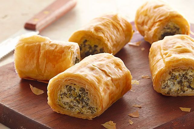 Keep a few of these roll-ups in the freezer and pop one in the oven whenever you…