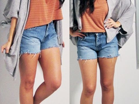 DIY Distressed, Cut Off Denim Shorts