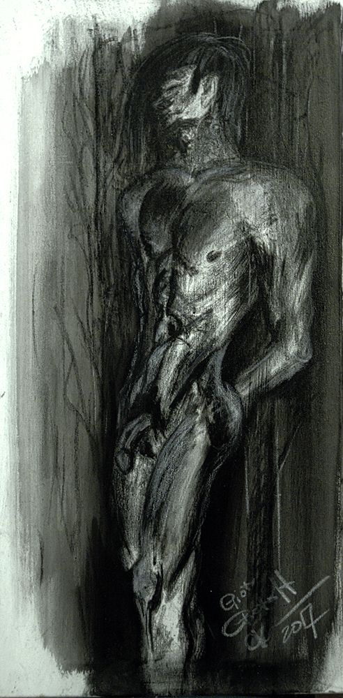 charcoal on canvas. 40x80. www.pietroff.com