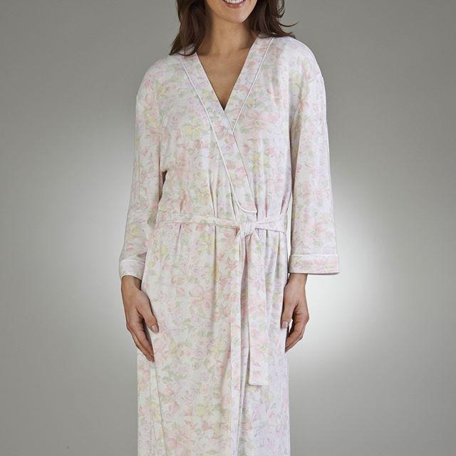 Ladies Floral Print Long Sleeve Tie Belt Robe - Mint - Pink - S/M/L/XL Only £29.99  #nightwear #sleepwear #slenderella #robe # floral #