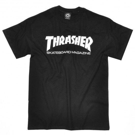 THRASHER Skate Mag tee-shirt black white - white black 30,00 € #skate #skateboard #skateboarding #streetshop #skateshop @playskateshop
