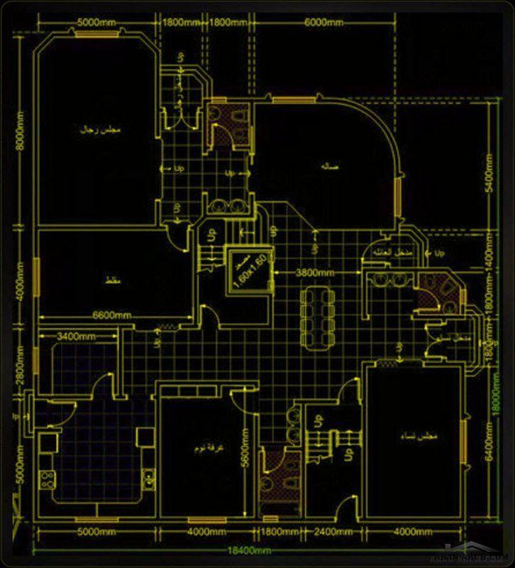 تصميم معماري فيلا سكنية كويتي دورين بتفاصيل مميزة Classic House Design New House Plans Classic House