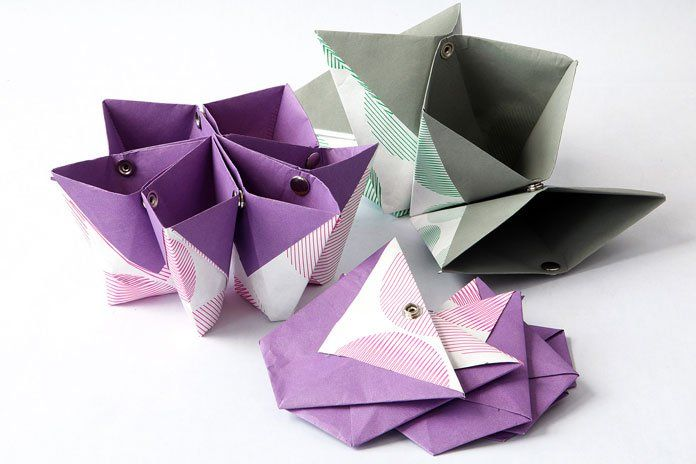 Cute origami organizer crafty things pinterest - Origami desk organizer ...