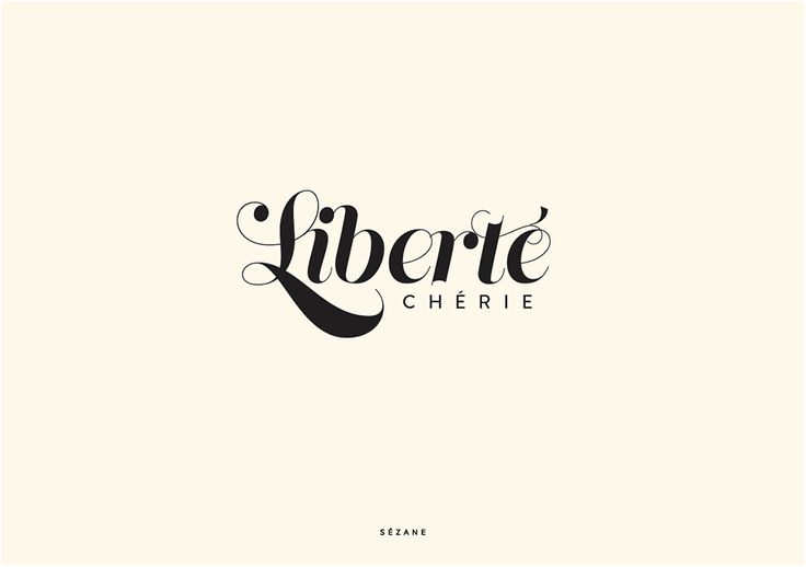 Liberté chérie   Sezane Typography Card #sezane #journalsezane