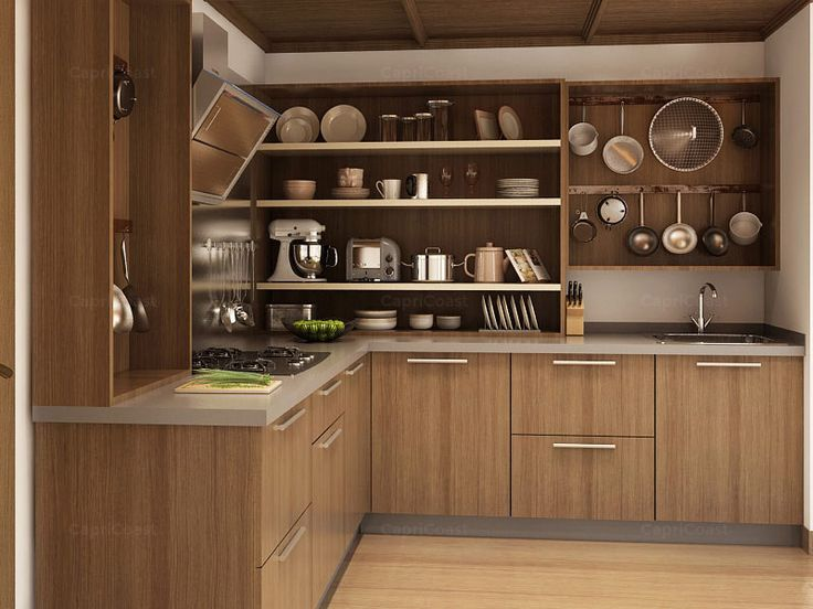L Shaped Modular Kitchens Online India | CapriCoast