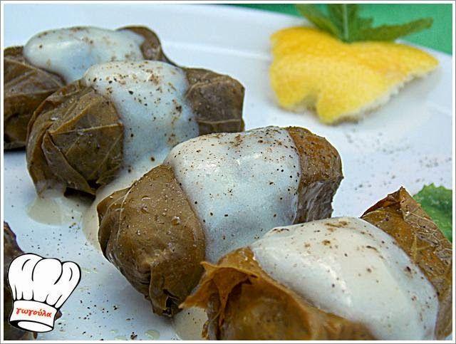 ΝΤΟΛΜΑΔΑΚΙΑ ΜΕ ΚΙΜΑ ΚΑΙ ΥΠΕΡΟΧΗ ΣΑΛΤΣΑ ΑΥΓΟΛΕΜΟΝΟ!!! | Νόστιμες Συνταγές της Γωγώς