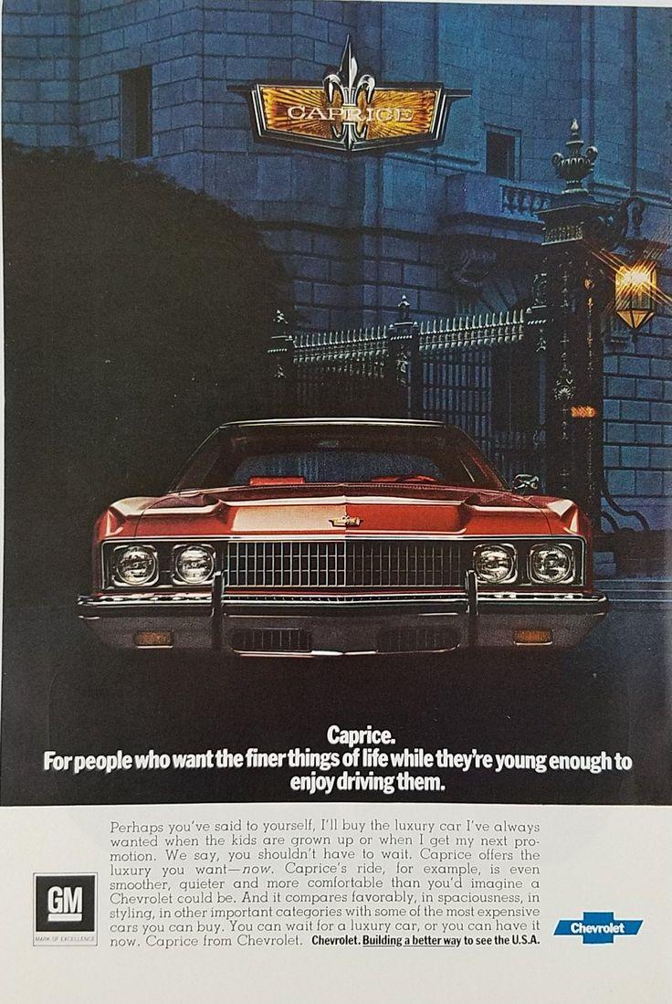 1970's Chevrolet Caprice Vintage Ad