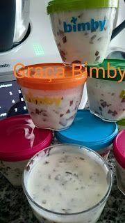 Bimby Truques & Dicas: Iogurtes de Stracciatella