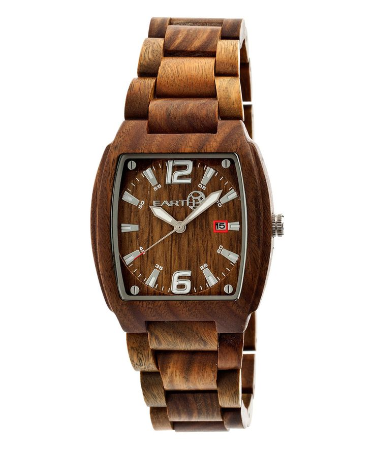 Love this Olive Sagano Wood Bracelet Watch by EARTH wood watches on #zulily! #zulilyfinds