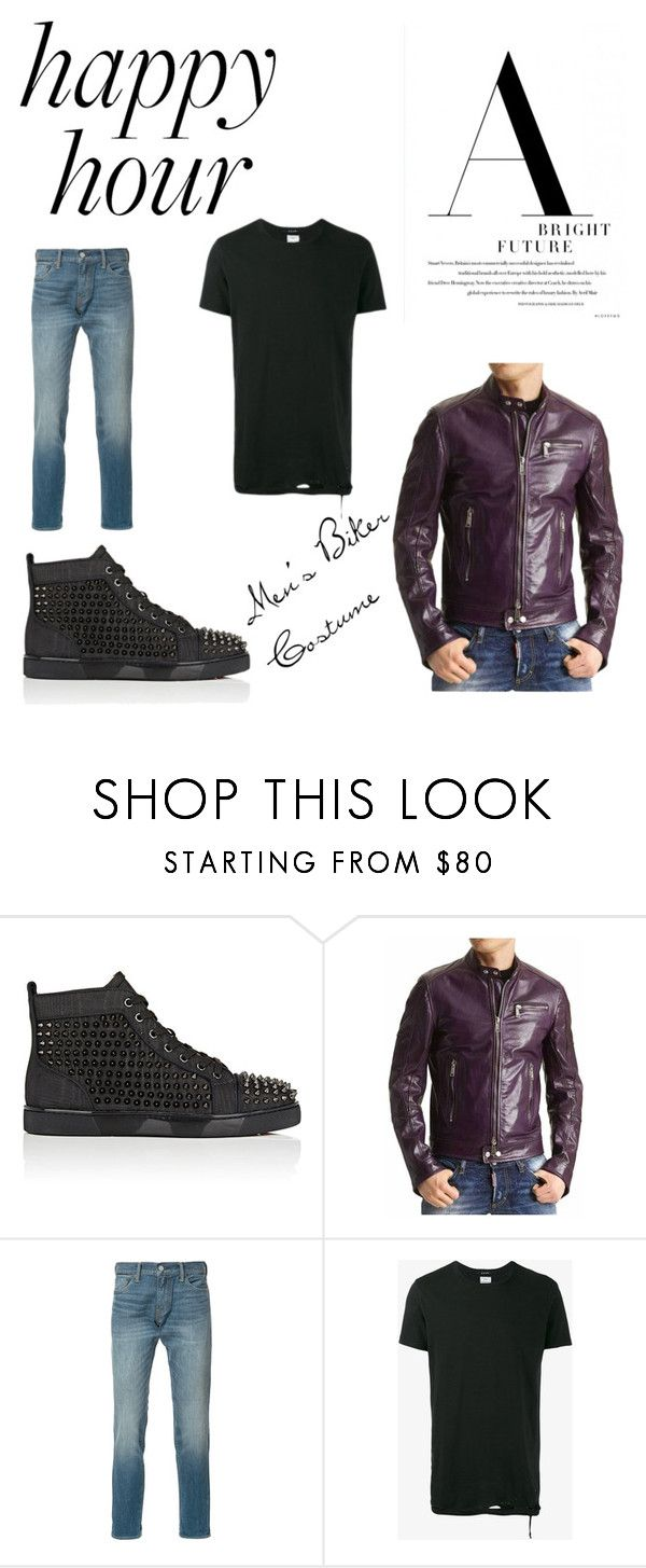 """The Great Men's Biker Costume"" by ujackets ❤ liked on Polyvore featuring Christian Louboutin, Levi's and Ksubi"