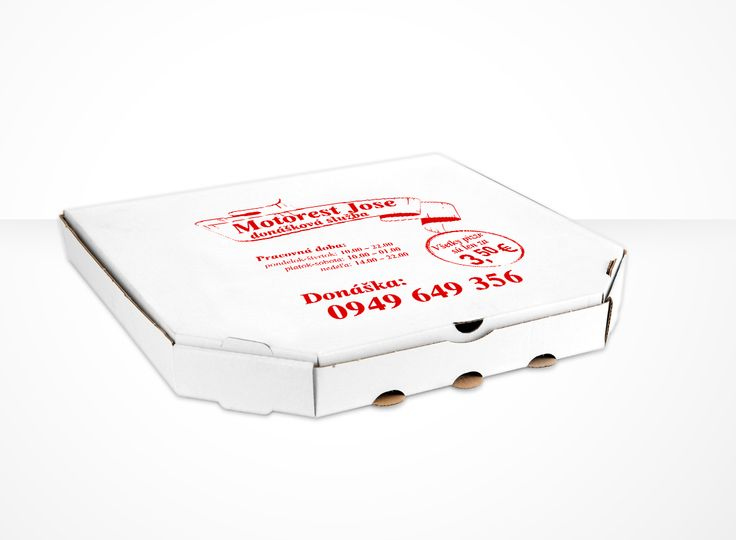 one color printed pizza box