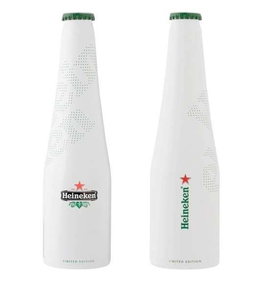 The Heineken Icone Pure Packaging Keeps it Simple with White #stpattysday