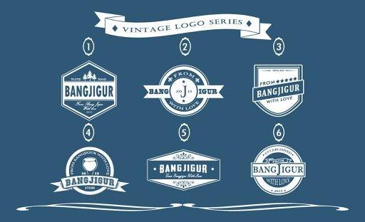 'Bangjigur' vintage logo series