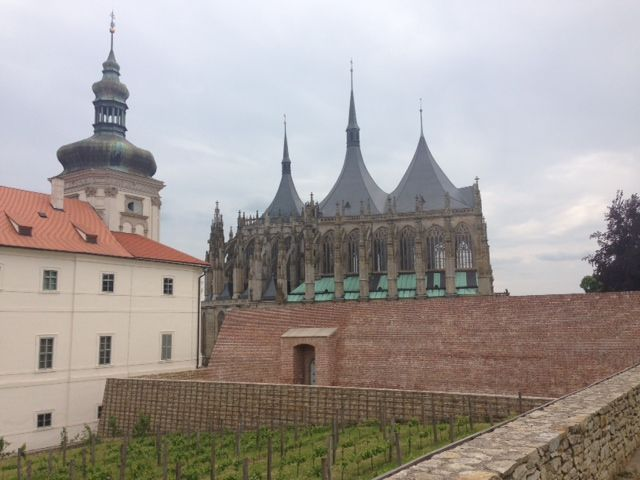 Jesuit College and St. Barbora Cathedral in Kutna Hora