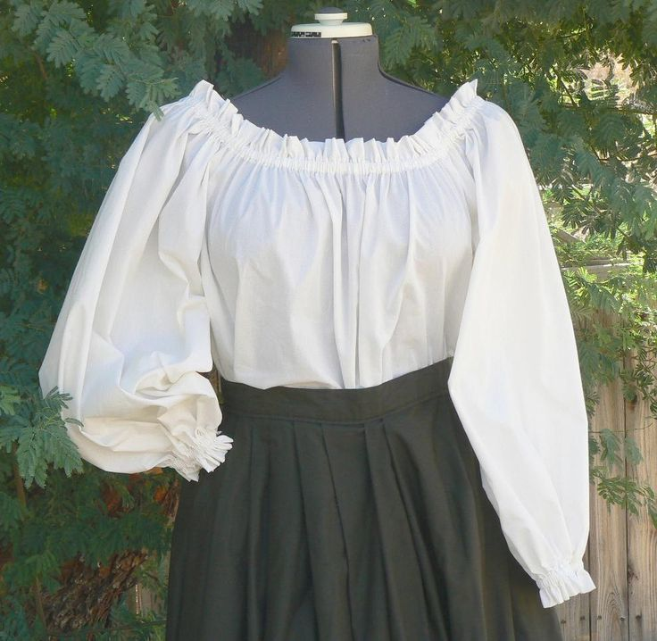 Plus Size Peasant Blouse Renaissance Chemise Pirate Wench Shirt by ItsNotPajamas on Etsy https://www.etsy.com/listing/96445109/plus-size-peasant-blouse-renaissance