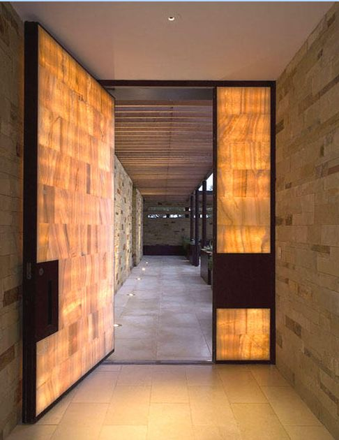 translucent door and sidelight detail