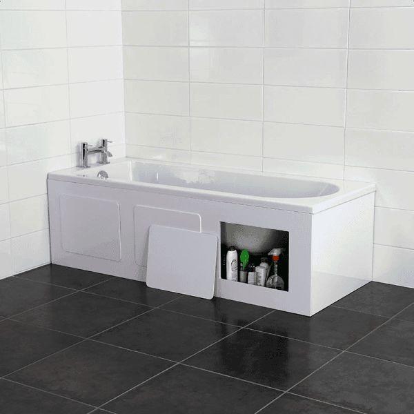 Croydex Gloss White Storage Side Bath Panel