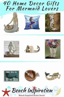 40 Home Decor Gifts For Mermaid Lovers Beach House Gift Ideas