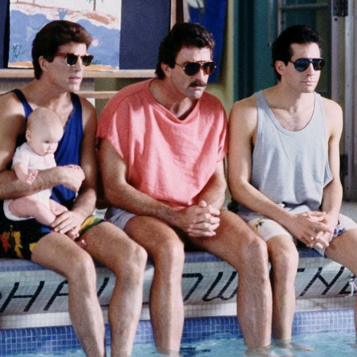 Tom Selleck, Ted Danson, Steve Guttenberg,movie of 1987: Three Men and a Baby.  Join us as we ask why three successful men in their 30's would want to be roommates, how drug dealers could confuse a baby with a brick of heroin, and why anyone would ever attempt to use a puppet to impress a woman.  Come for the conversation about our favorite movie remakes, then stay for the story of our most humiliating experience as