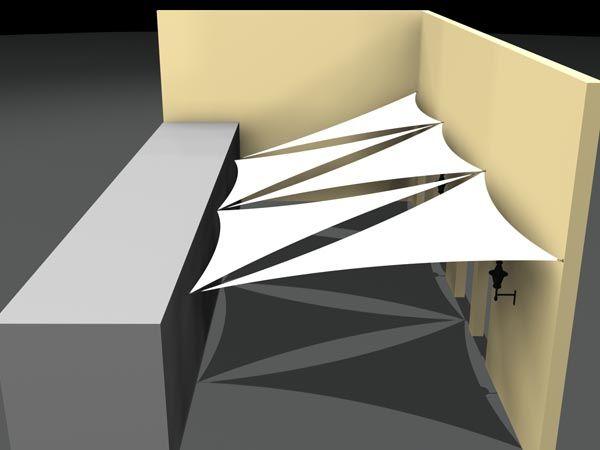 beaiutiful d design of tringular shade sails for sunshade