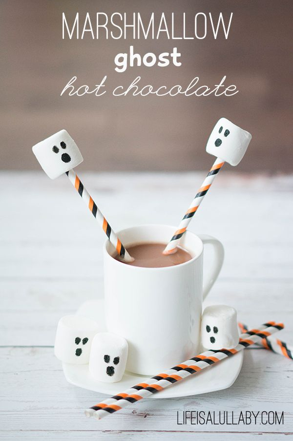 jacket sale men Marshmallow Ghost Hot Chocolate for Halloween