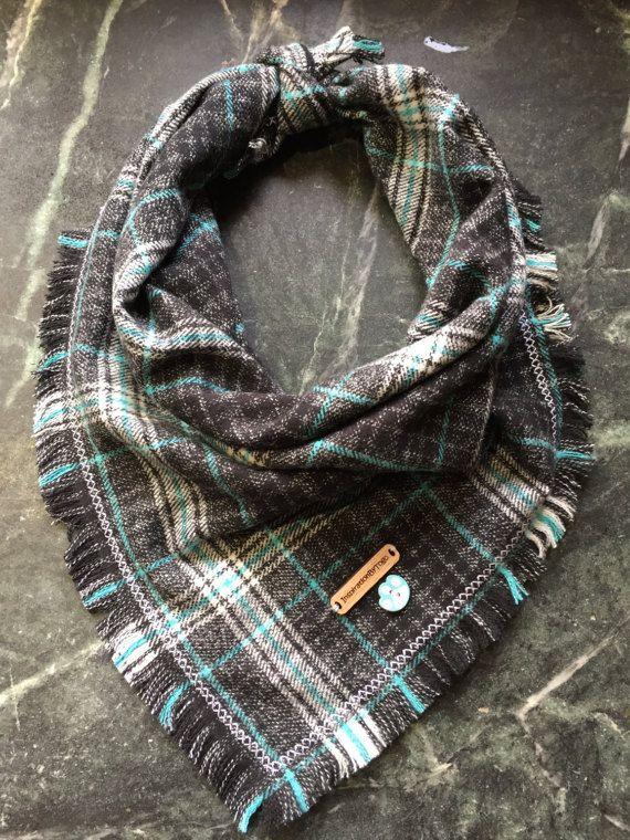 Dog bandanas. Dog scarves. Plaid dog bandana. Winter dog scarf. Flannel dog bandana by InspirationByTogo