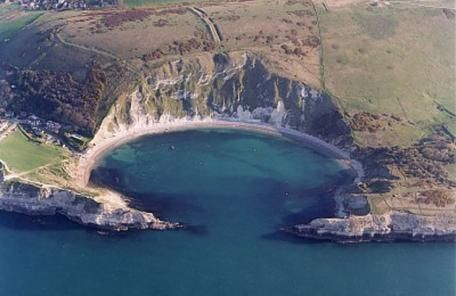 Lulworth Cove warmly welcomed me to Dorset, England.