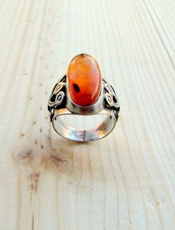 Ring jewelry Ring amber Amber ring Ring by RussianTreasureHouse