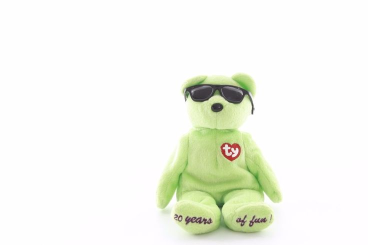 "Ty Beanie baby bean bag plush stuffed animal Summertime fun teddy bear 9"""