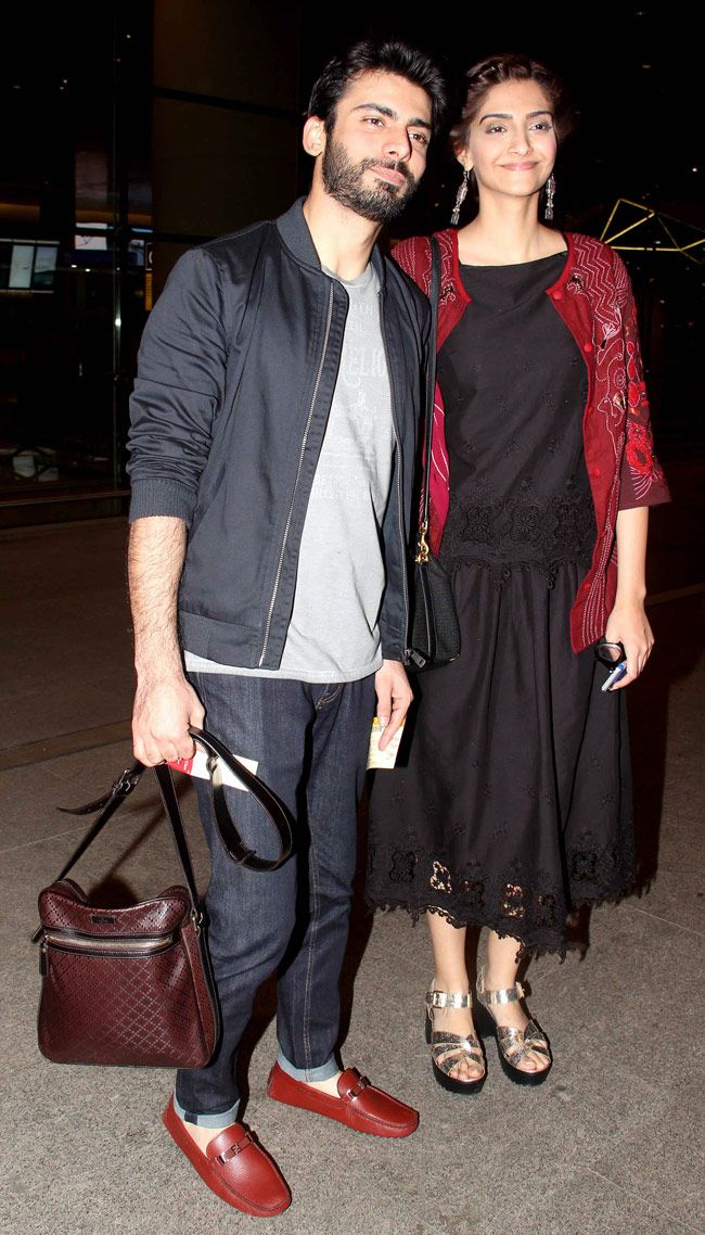 The 'Khoobsurat' jodi Sonam Kapoor and Fawad Khan snapped at the Mumbai airport.