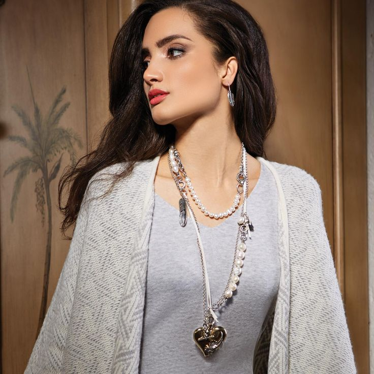 #miglio layers of lustrous pearls and burnished silver.