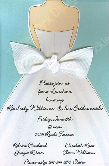 Here Comes The Bride Wedding Shower Invitation With Ribbon #bridalshower #invitations