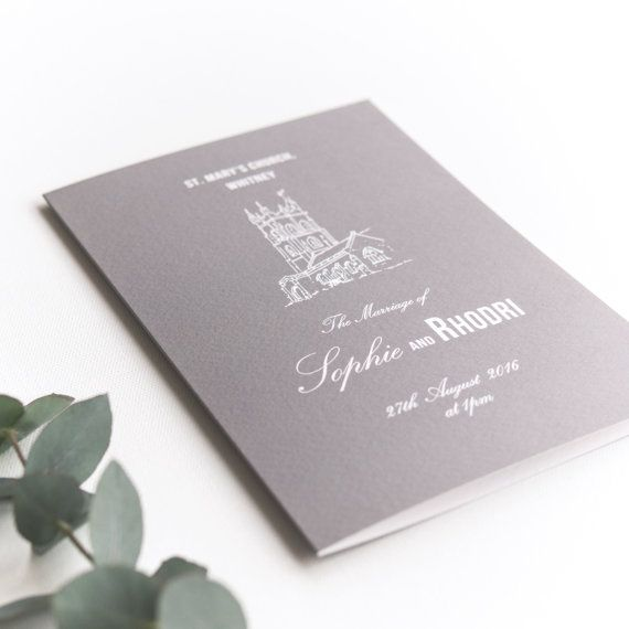 Traditional Style Order Of Service 4-page Booklet / by Paperpair