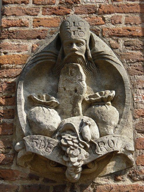Sint Nicolaas patroon van het Bergkwartier. (bergstraat 37/39) te Deventer
