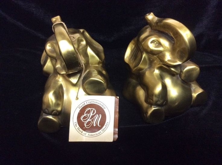 Brass Elephant Bookends Republican Party Symbol GOP #PhiladelphiaManufacturingCompany #PMCraftsman