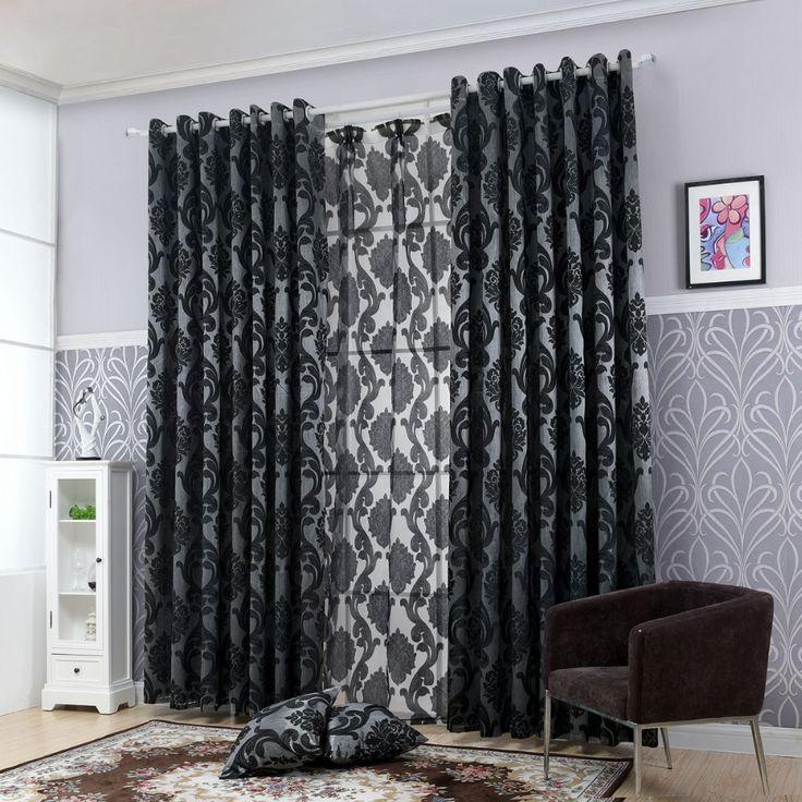 Geometrie vorhänge für wohnzimmer vorhang stoffe fenster vorhang panel halb blackout schlafzimmer vorhänge