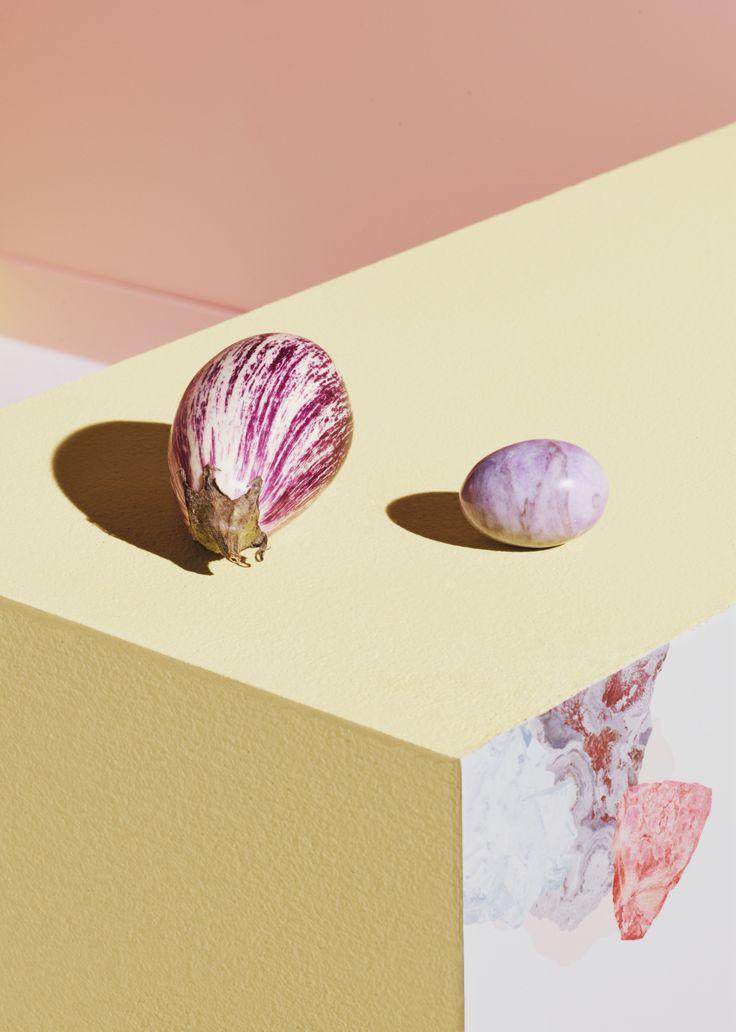 Cabinet de curieuses idées - MINERALS (wallpaper : turquoise-coral)