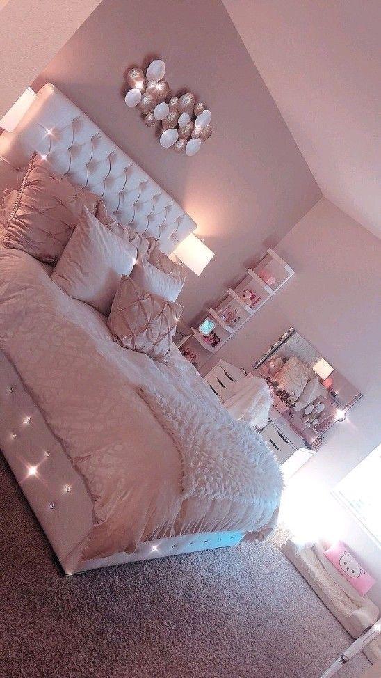 Cute Bedroom Ideas, Room Ideas Bedroom, Trendy Bedroom, Girls Bedroom, Bedroom Decor, Bedroom Furniture, Girl Rooms, Furniture Ideas, Master Bedroom