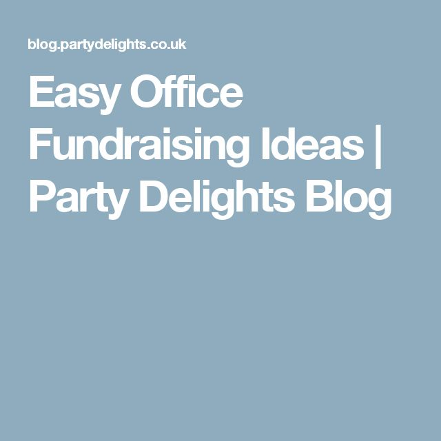 easy office fundraising ideas